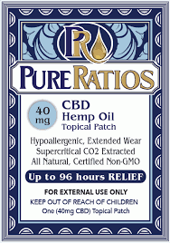 Pure Ratios CBD Hemp Oil Topical Patch