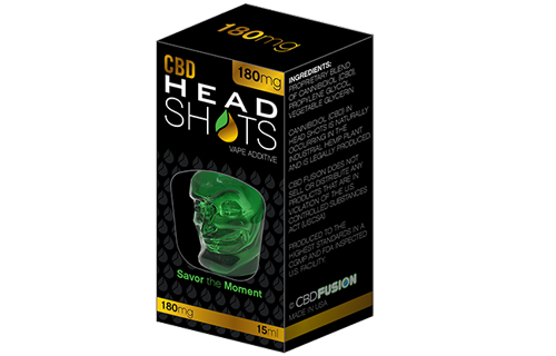 CBDFusionWater CBD Head Shots Vape Additive/Tincture