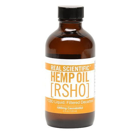 Real Scientific Hemp Oil 4oz 1000mg Gold Label Liquid Bottle