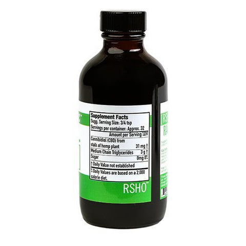 Real Scientific Hemp Oil 4oz 1000mg Green Label Liquid Bottle