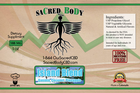 Sacred Body CBD Vape Oils/Vape Cartridges