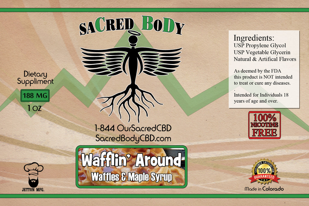 Sacred Body CBD Vape Oils - 20 Flavors and 5 Strengths