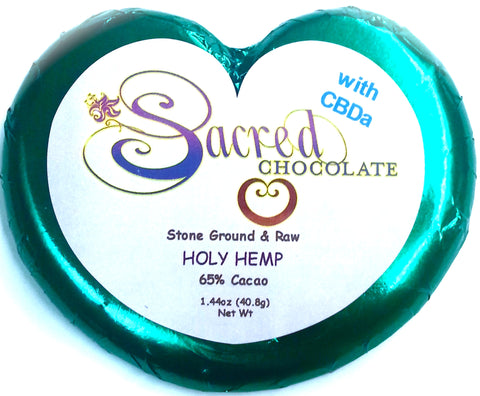 Sacred Chocolate Holy Hemp Heart Bars