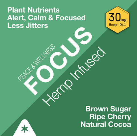 Strava Craft Coffee: Peace and Wellness FOCUS Coffee - Infused with Plant Nutrients 30 mg CBD