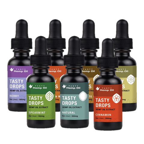 Tasty Hemp Oil: Tasty Drops 150mg-300mg CBD