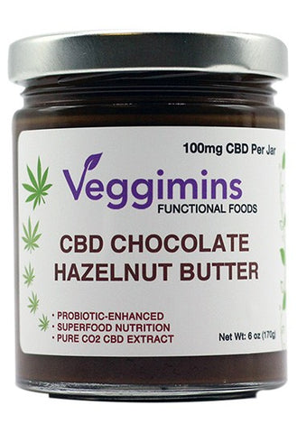 Veggimins CBD Chocolate Hazelnut Butter + Probiotics