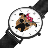 Bull Dog Steel Strap Water-Resistance Watch