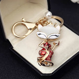 Luxury Sexy Opal Red Skirt  Fox Key Chain