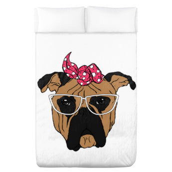 Bull Dog Flannel Blanket
