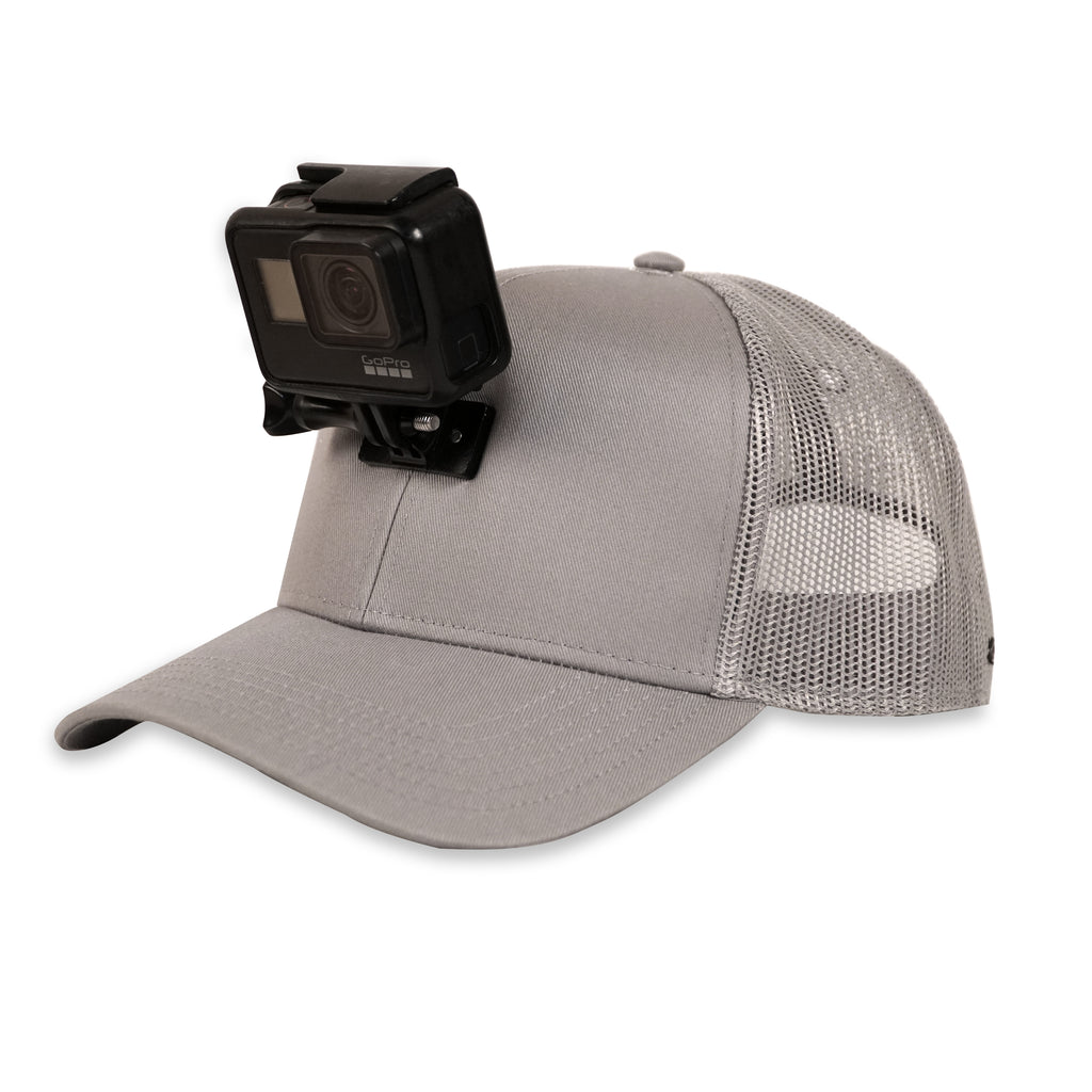ActionHat Mesh: Gray Curved Bill