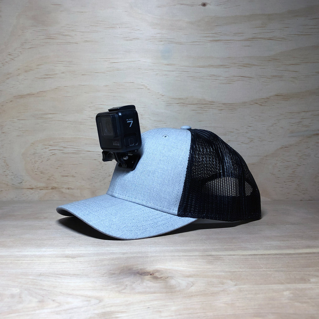 #ActionHatCustom: Twill Black Mesh Curved Bill