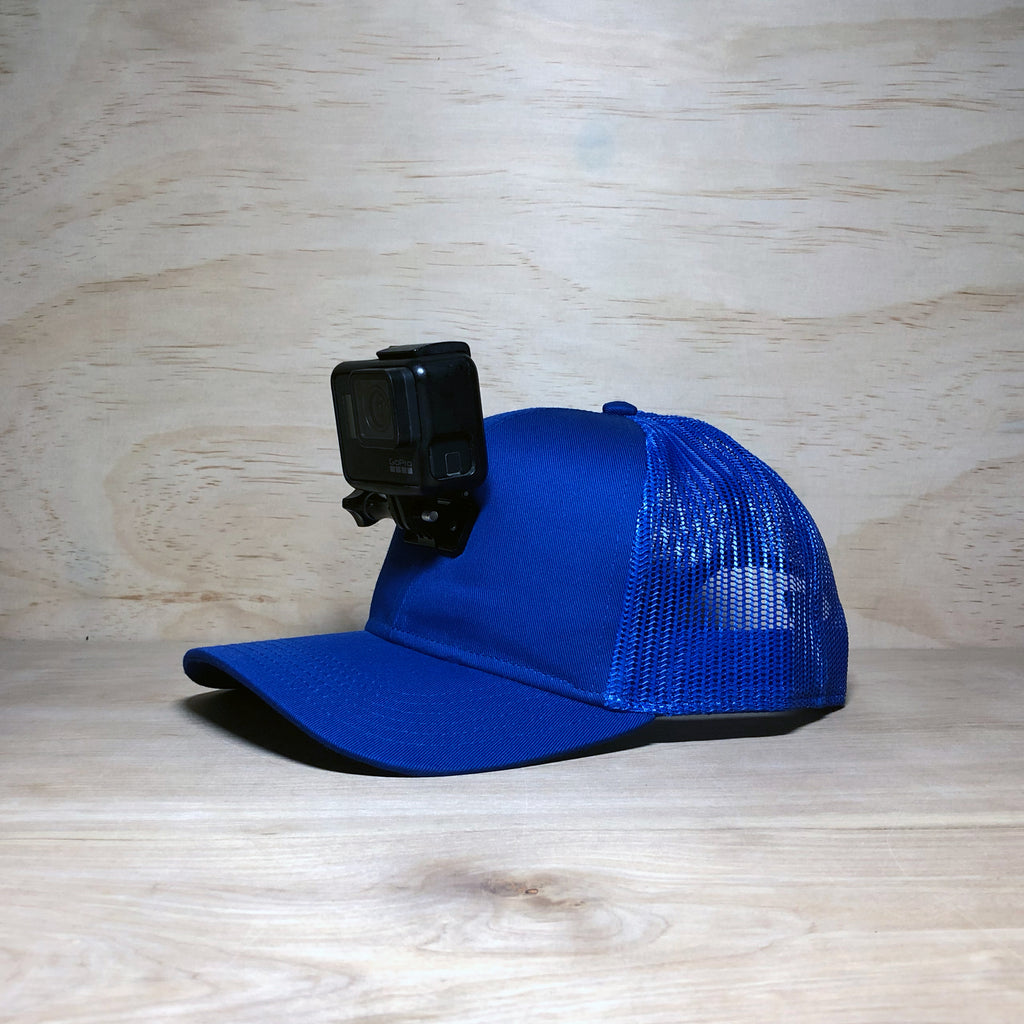 #ActionHatCustom: Blue Mesh Back Curved Bill