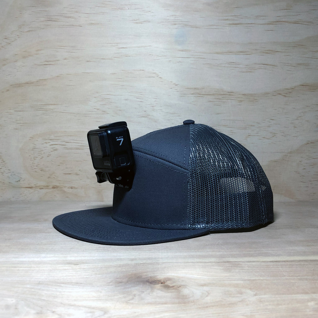 #ActionHatCustom: Charcoal Mesh 7-Panel Flat Bill