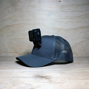 #ActionHatCustom: Charcoal Mesh Curved Bill