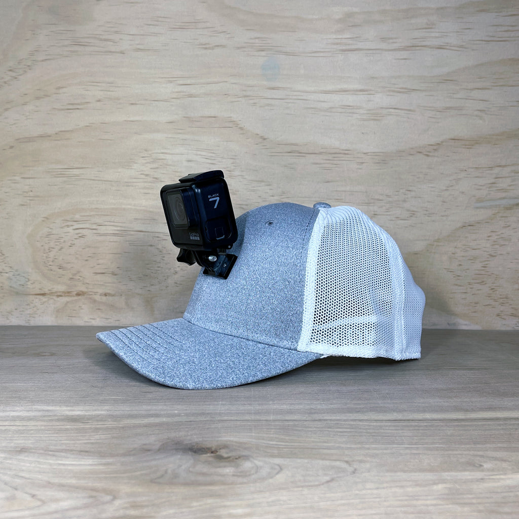 #ActionHatCustom: Heather Gray Comfy Fit Curved Bill