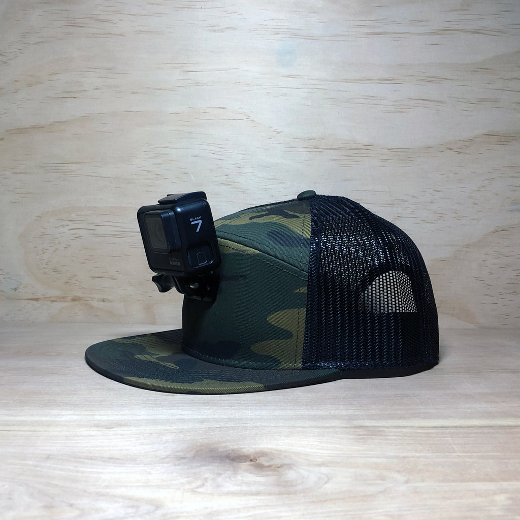 #ActionHatCustom: Camo Mesh 7-Panel Flat Bill