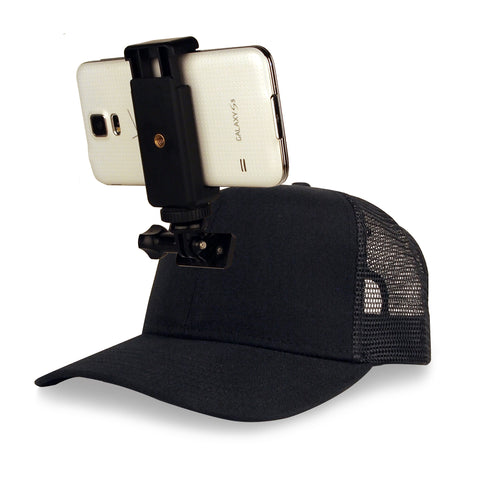 ActionHat for Phones: Black Mesh Curve Bill