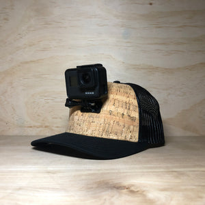 #ActionHatCustom: Cork Mesh Back Curved Bill - Hat Mount for GoPro
