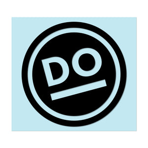 "DO DO FACE - 3.5"" Black Decal - Hat Mount for GoPro"