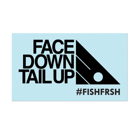 "#FACEDOWNTAILUP - 11"" Black Decal - Hat Mount for GoPro"