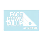 "#FACEDOWNTAILUP - 6"" White Decal - Hat Mount for GoPro"