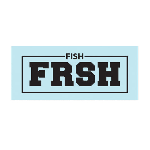 "Decals: 11"" Vinyl #FishFRSH - Black - Hat Mount for GoPro"