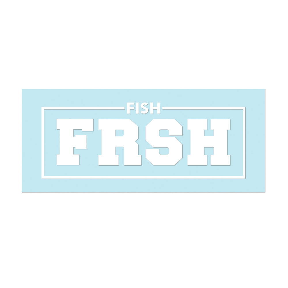 "#FISHFRSH - 6"" White Decal - Hat Mount for GoPro"