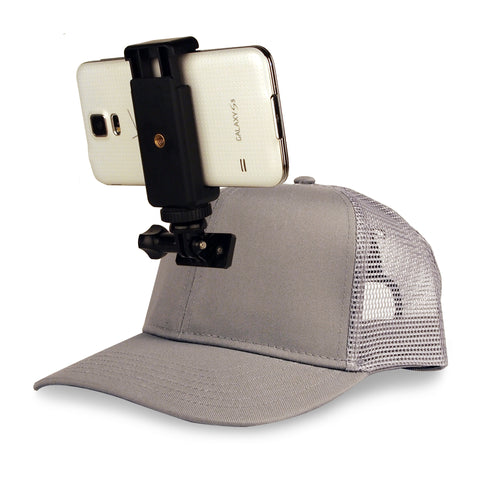 ActionHat for Phones: Grey Mesh Curve Bill