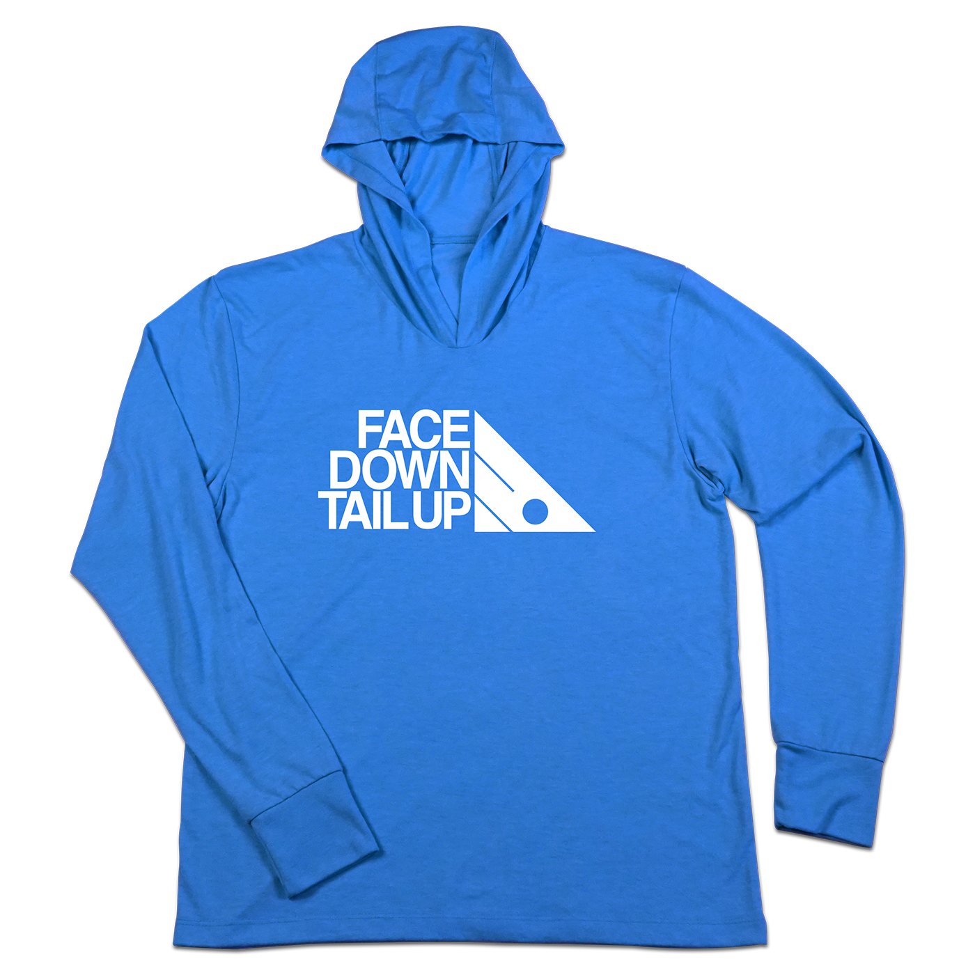 #FACEDOWNTAILUP TriBlend Hoodie Shirt