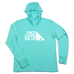 #FACEDOWNTAILUP TriBlend Hoodie Shirt - White - Hat Mount for GoPro