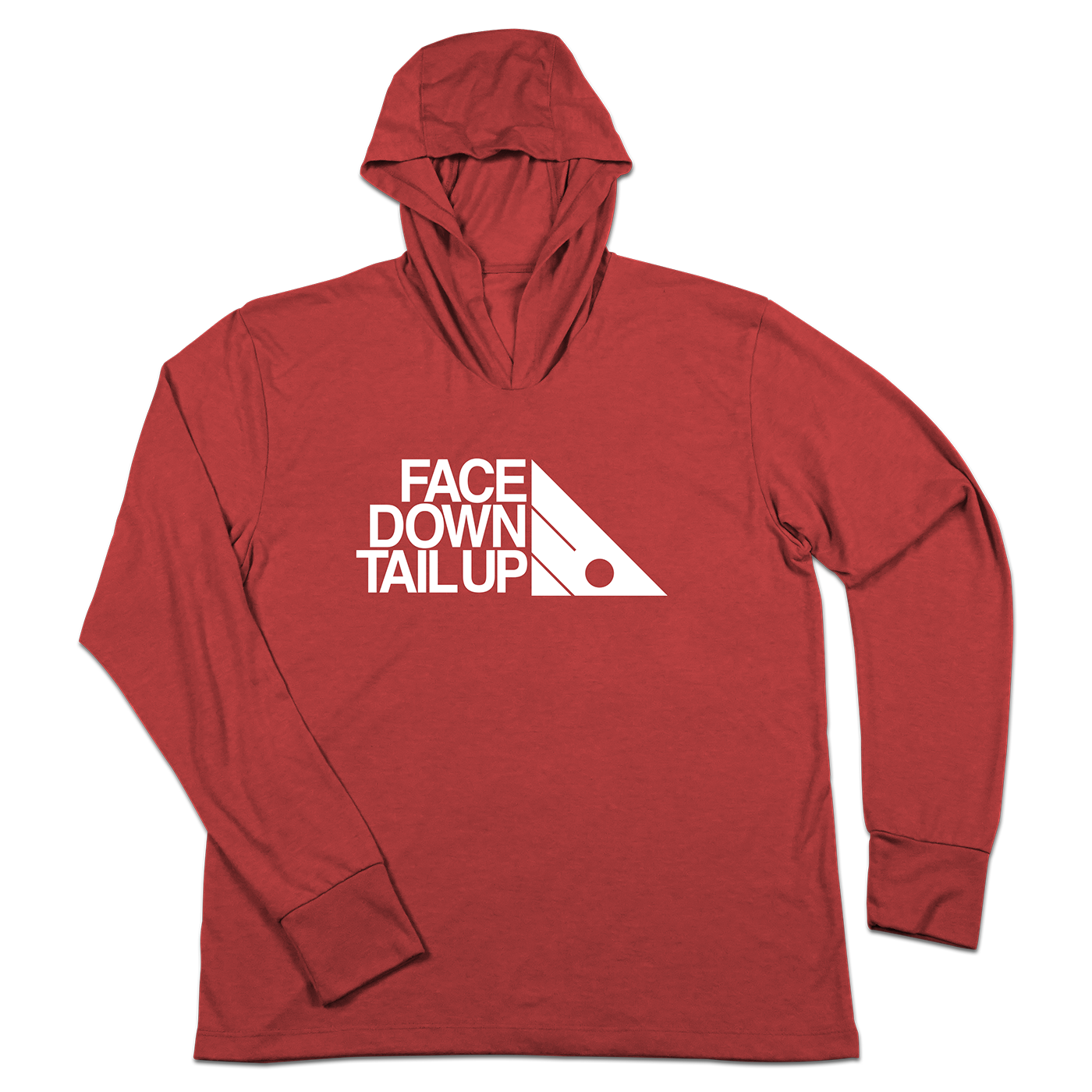 #FACEDOWNTAILUP TriBlend Hoodie Shirt - Hat Mount for GoPro