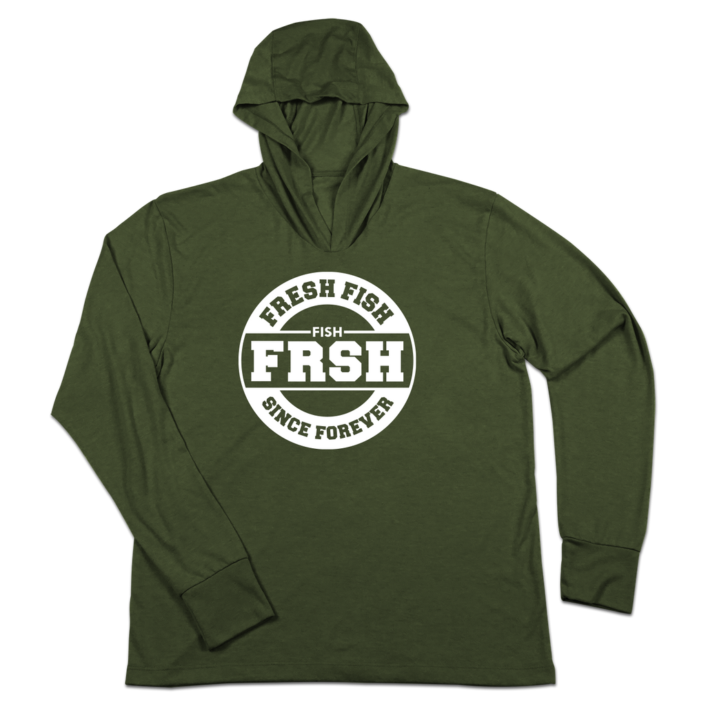 #FRESHFISH TriBlend Hoodie Shirt - White - Hat Mount for GoPro