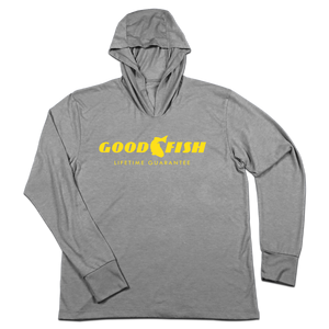#GOODFISH TriBlend Hoodie Shirt - Yellow - Hat Mount for GoPro