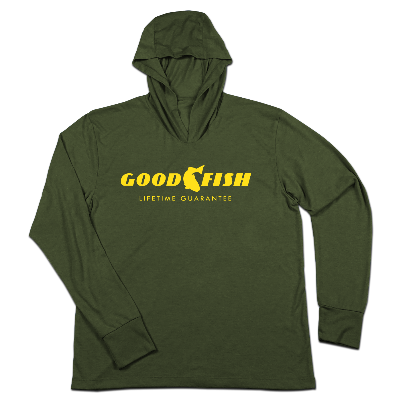 #GOODFISH TriBlend Hoodie Shir - Hat Mount for GoPro