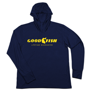 #GOODFISH TriBlend Hoodie Shirt - Hat Mount for GoPro