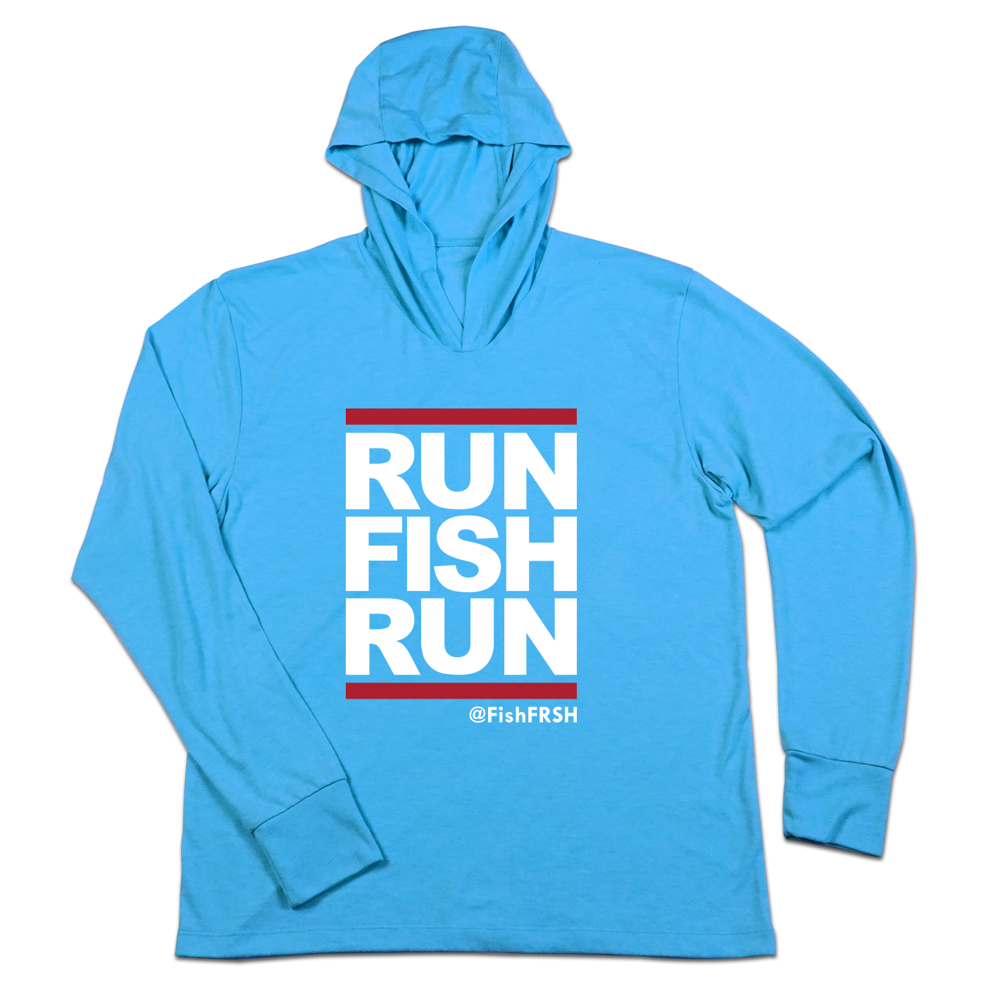 #RUNFISHRUN TriBlend Hoodie Shirt - Hat Mount for GoPro
