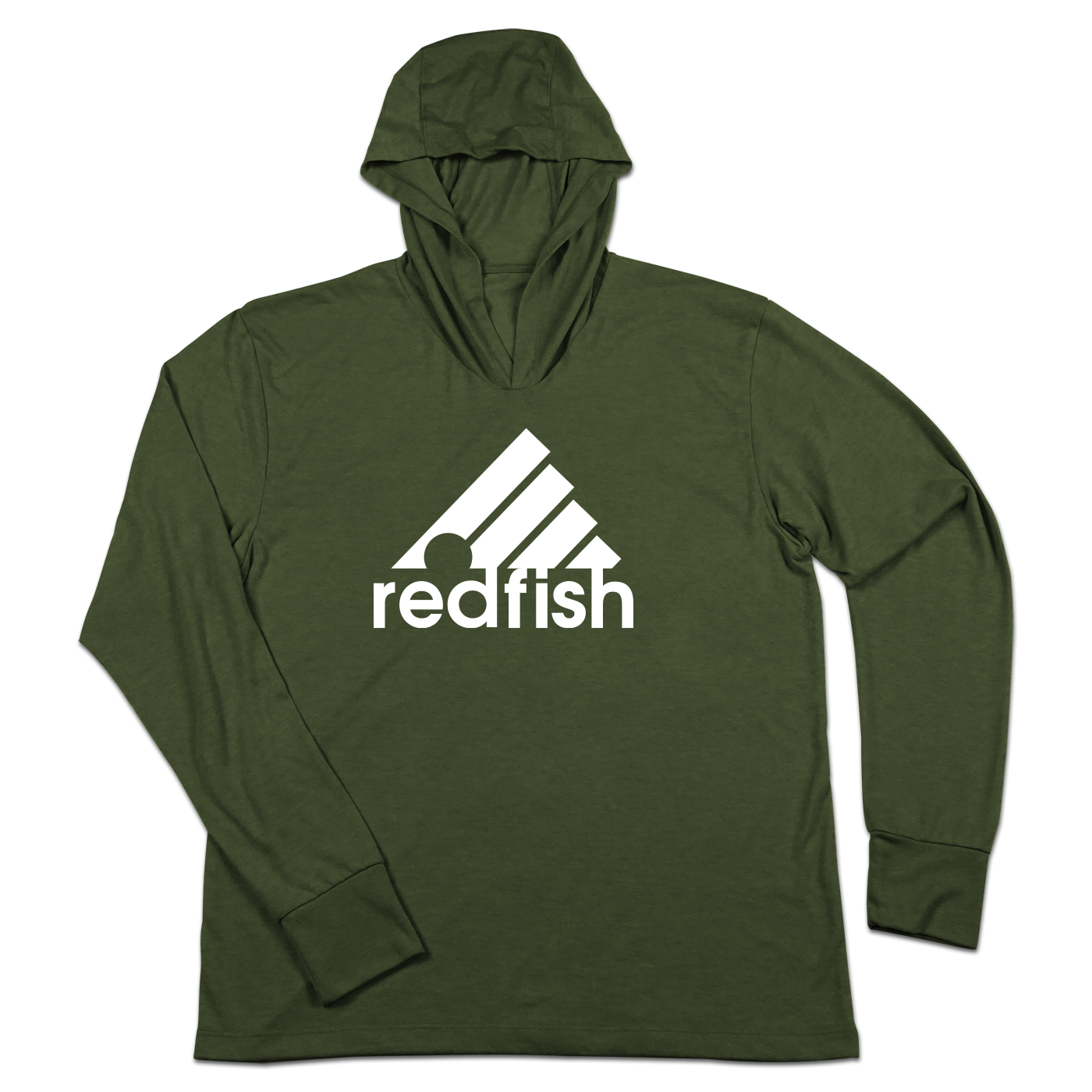 #REDFISH TriBlend Hoodie Shirt - Hat Mount for GoPro