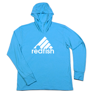 #REDFISH TriBlend Hoodie Shirt - White - Hat Mount for GoPro