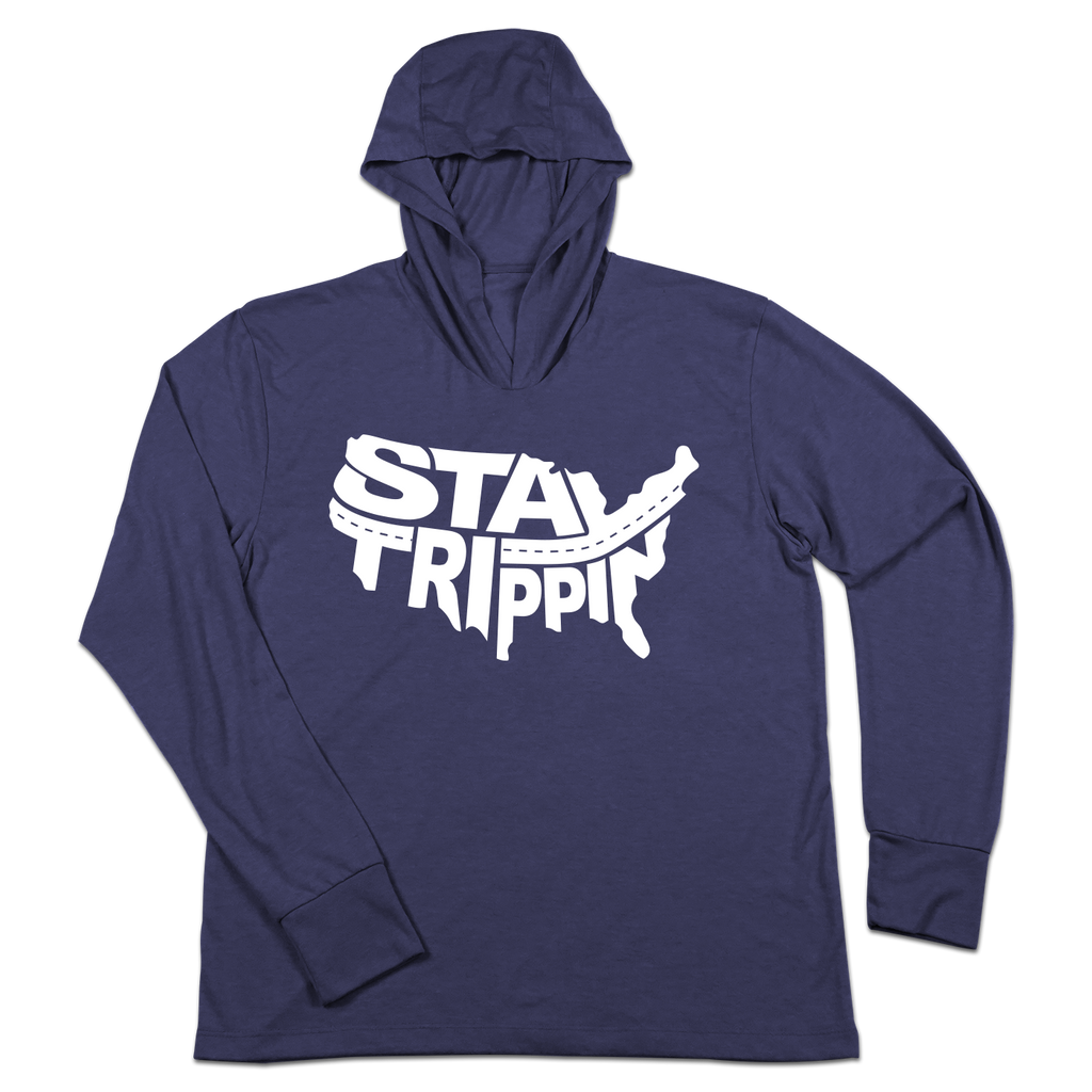 #STAYTRIPPIN USA TriBlend Hoodie Shirt - Hat Mount for GoPro