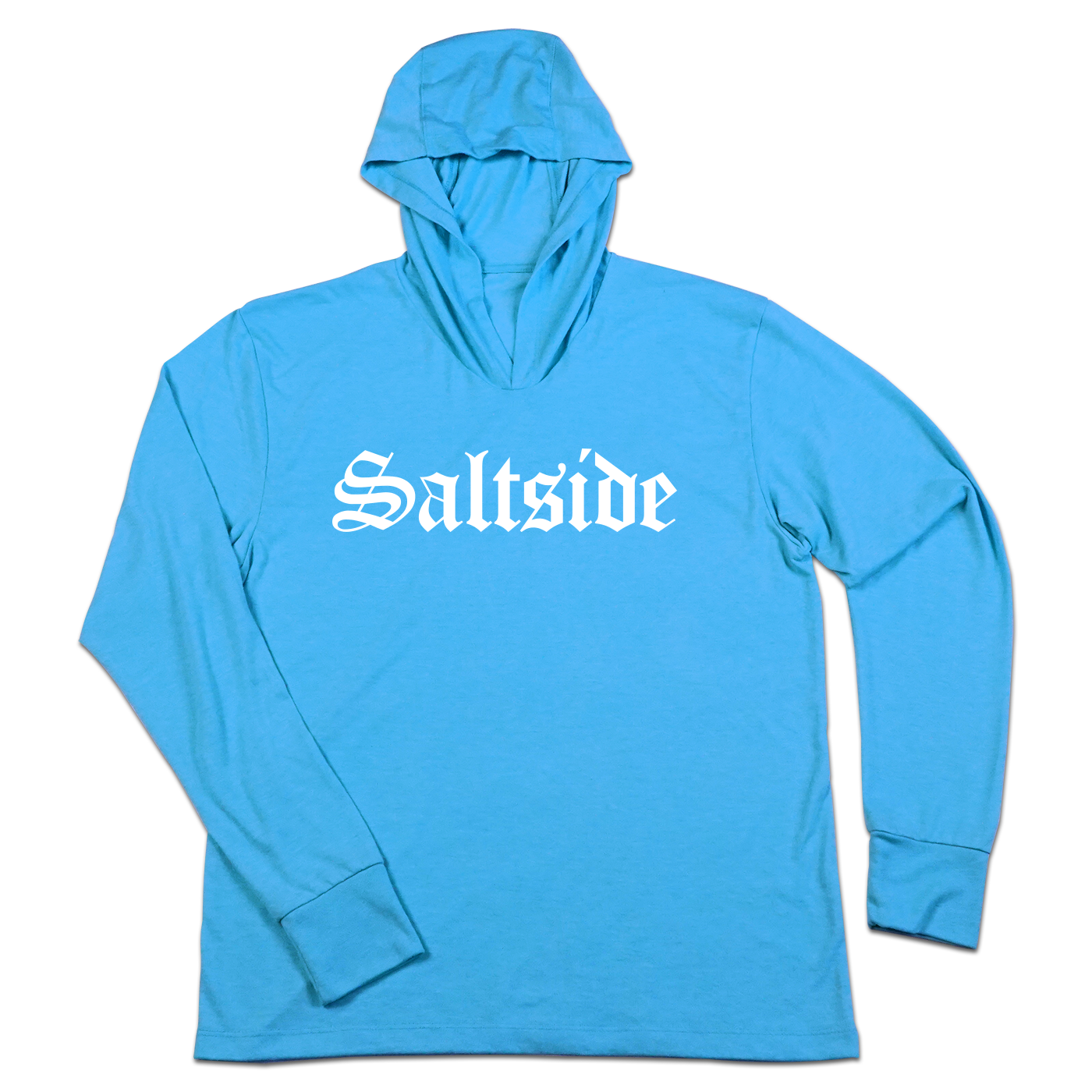 #SALTSIDE TriBlend Hoodie Shirt - White - Hat Mount for GoPro