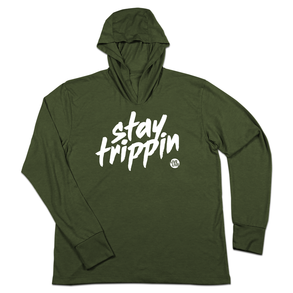 #STAYTRIPPIN Tag TriBlend Hoodie Shirt - Hat Mount for GoPro
