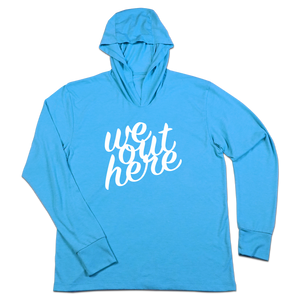 #WEOUTHERE TriBlend Hoodie Shirt - White - Hat Mount for GoPro