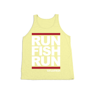 #RUNFISHRUN YOUTH Tank Top - White - Hat Mount for GoPro