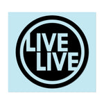 "LIVELIVE LOGO - 3.5"" Black Decal - Hat Mount for GoPro"