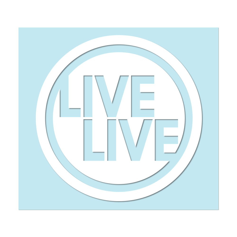 "LIVELIVE LOGO - 3.5"" White Decal - Hat Mount for GoPro"