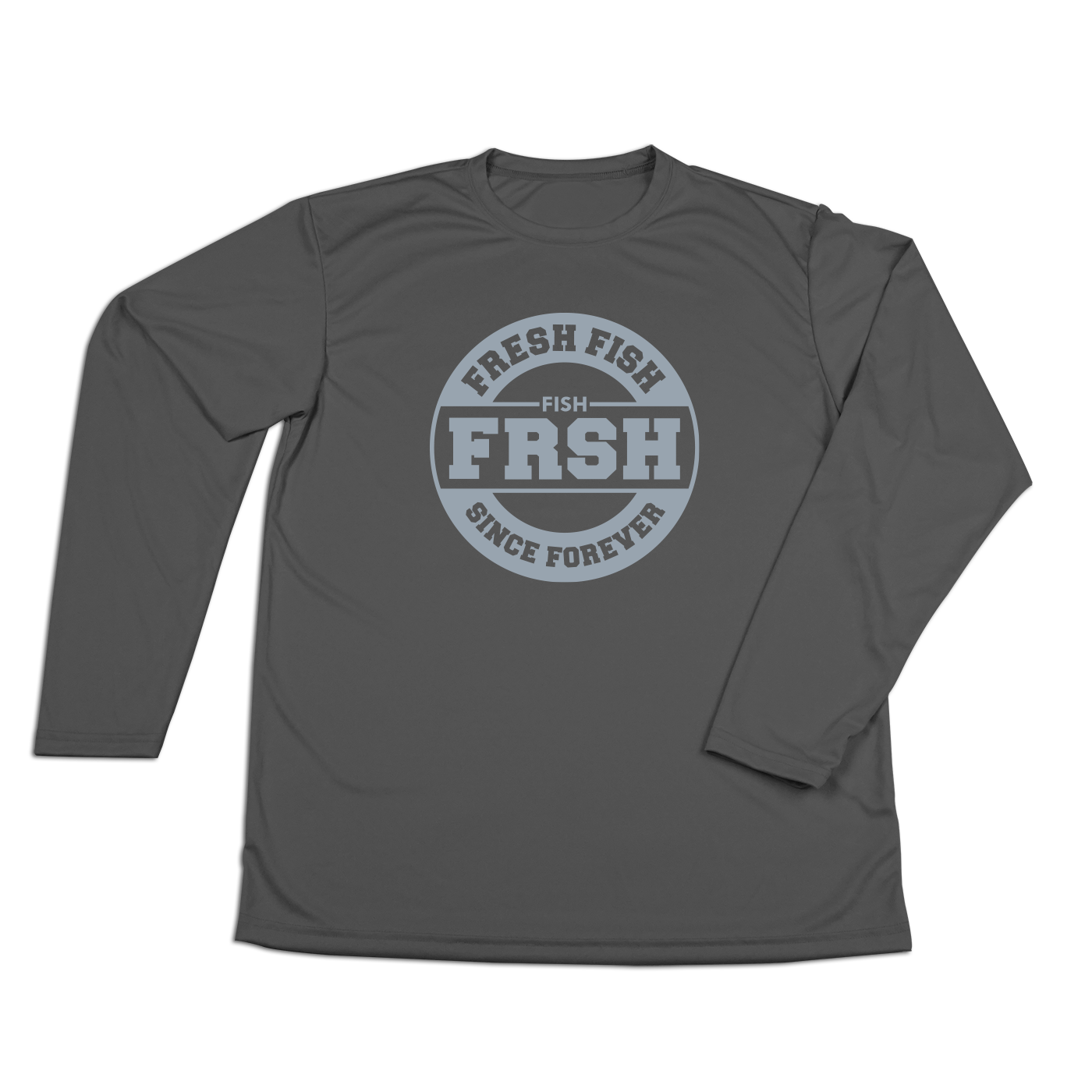 #FRESHFISH Performance Long Sleeve Shirt - Gray Print