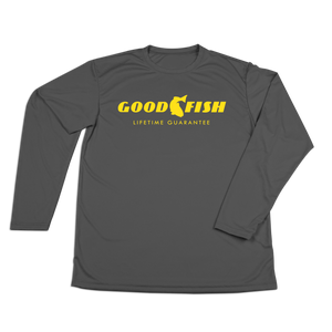#GOODFISH Performance Long Sleeve Shirt - Yellow - Hat Mount for GoPro