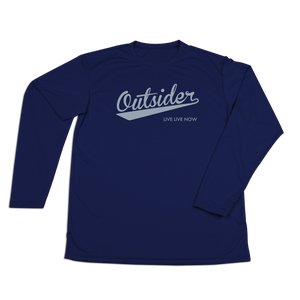 #OUTSIDER Performance Long Sleeve Shirt - Gray Print