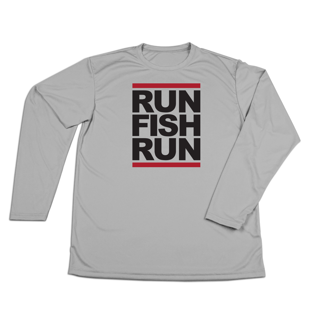 #RUNFISHRUN Performance Long Sleeve Shirt - Black - Hat Mount for GoPro