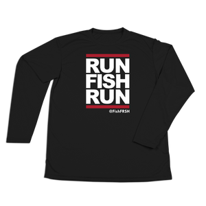 #RUNFISHRUN Performance Long Sleeve Shirt - White - Hat Mount for GoPro